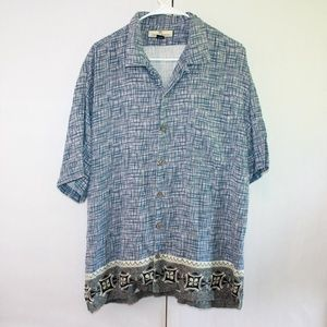 Tommy Bahama Men's Large Button Up Silk Shirt